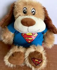"Superman Dc Comics Plush Dog Petsmart Luv A Pet Chance Superhero 16"" RARE"
