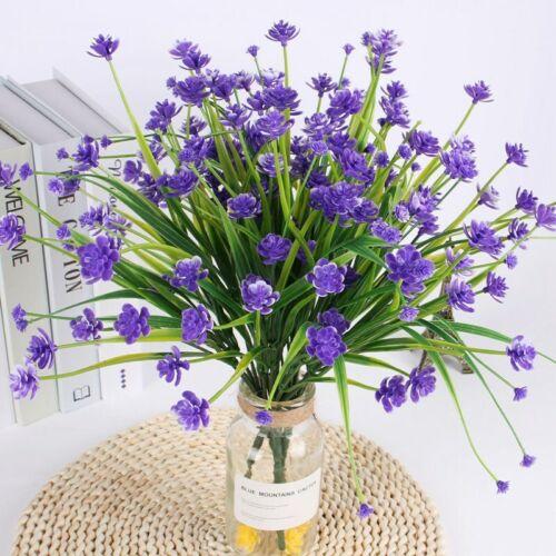 Artificial Flower Fake Lavender Bouquet Wedding Banquet Garden Grass Multi-color