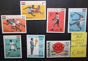 FRANCOBOLLI-GHANA-1964-034-OLIMPIADI-OLYMPICS-TOKYO-034-MNH-SET-IMPERF-CAT-X