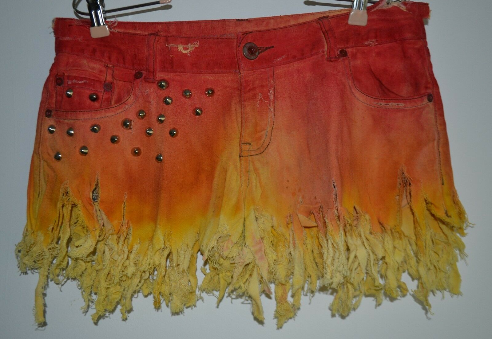 Mossimo Supply Co., Shorts, Artistic Origin, On Fire, Studded, Distressed