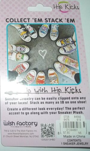 NEW HIP KICKS SNEAKER JEWELRY CHARMS FOR YOUR TENNIS SHOES 4 FUN /& FUNKY FASHION