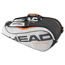 Brand New Head TOUR TEAM 9R SUPERCOMBI Tennis Racquet Bag Silver/Black 2016