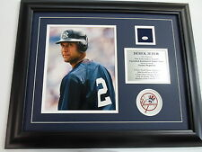 DEREK JETER GAME USED JERSEY NY New York YANKEES  STEINER COA un signed