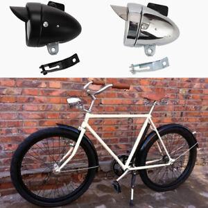 Ensemble-Retro-Velo-Bicyclette-LED-Lampe-avant-Phare-Vintage-Torche-Noir-Argent