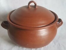 Natural Clay 6.75 Quart Large Bean Pot Dutch Oven Cooking Kitchen Made in Chile