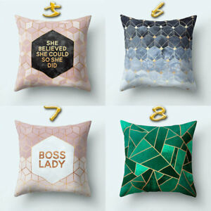 Details about Geometric Skin Printed Pillow Cases Bedroom Cushion Cover  Textile Sofa 45x45cm