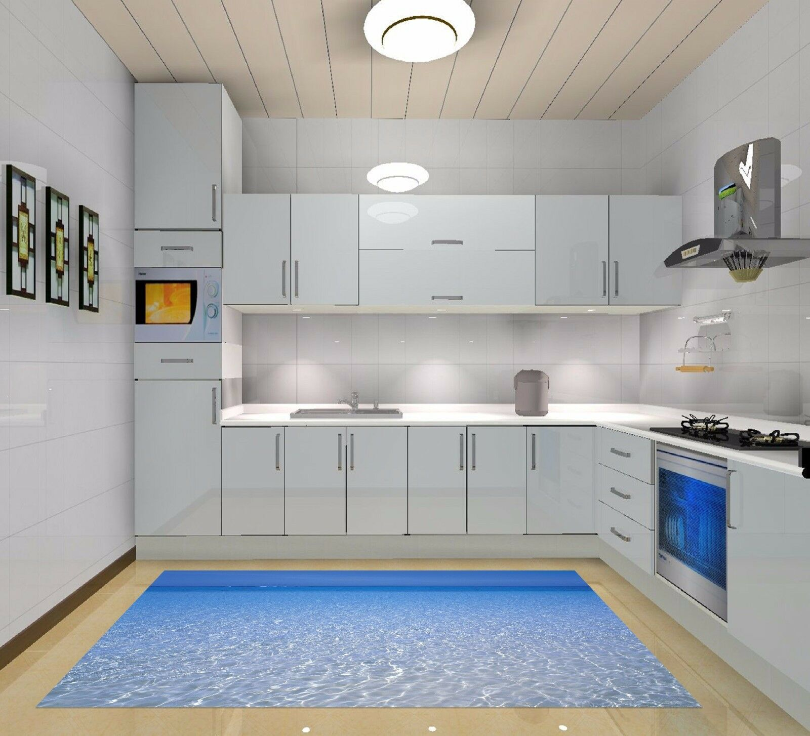 3D Shining Water Water Water Kitchen Mat Floor Murals Wall Print Wall Deco AJ WALLPAPER AU 2c4b4a