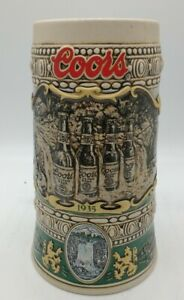 Vintage-1990-Coors-Brewing-Collectible-Beer-Mug-Stein-Collection-Print-Brazil