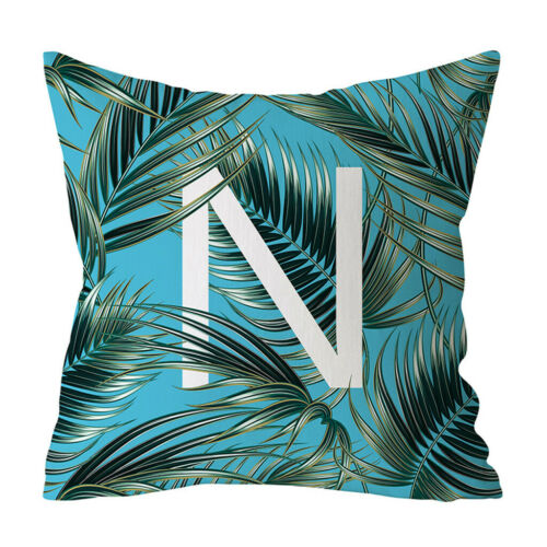 Pillow Cover Fashion Botanical Letter Pillowcase Sofa Cushion Cover Home Decor