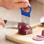 Vegetable-Cutter-Kitchen-Gadget-Stainless-Steel-Easy-Onion-Holder-Slicer-Tools thumbnail 1