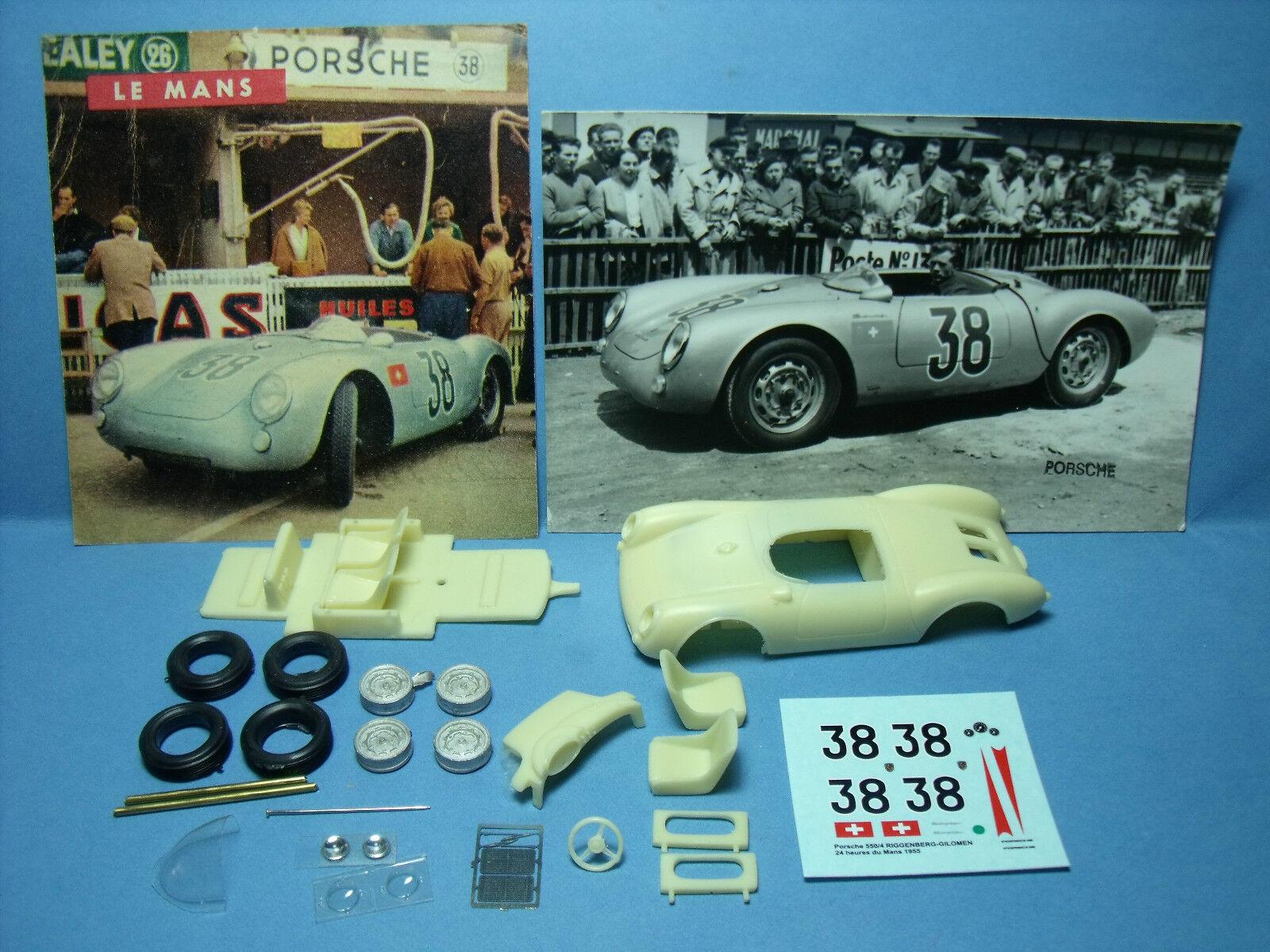 Porsche 550 spyder le mans 1955 numero 38 vroom kit 1 43 no spark