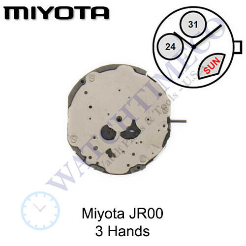 Retrograde Genuine Miyota JR00 Movement Japan 3 Hands