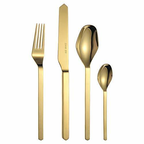 Gold MORGIANA 4 Stück Golden Besteck Set Gold Plated Besteck Sets,
