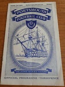 1953-4-Portsmouth-v-Sheffield-United