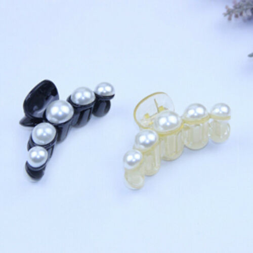 Women Girls Pearl Rhinestone Headdress Hairpin Clip Hair Claw Accessories ZT