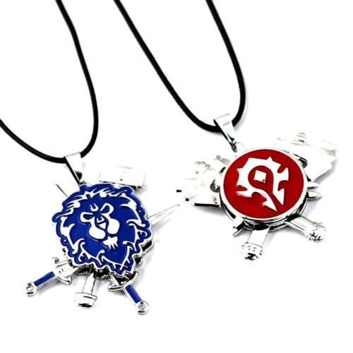 World of Warcraft Horde Symbol Alliance  Logo Necklace Pendant