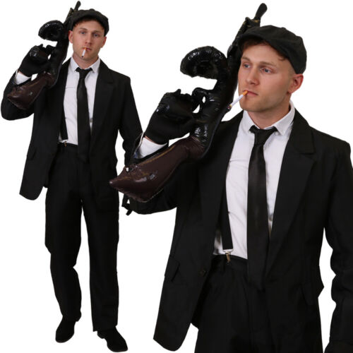 BRITISH GANGSTER COSTUME MENS TV FILM FANCY DRESS OUTFIT 1920S STAG DO