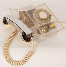 Vintage Lucite Acrylic Rotary Phone 1970s Teleconcepts Diamond Model Telephone