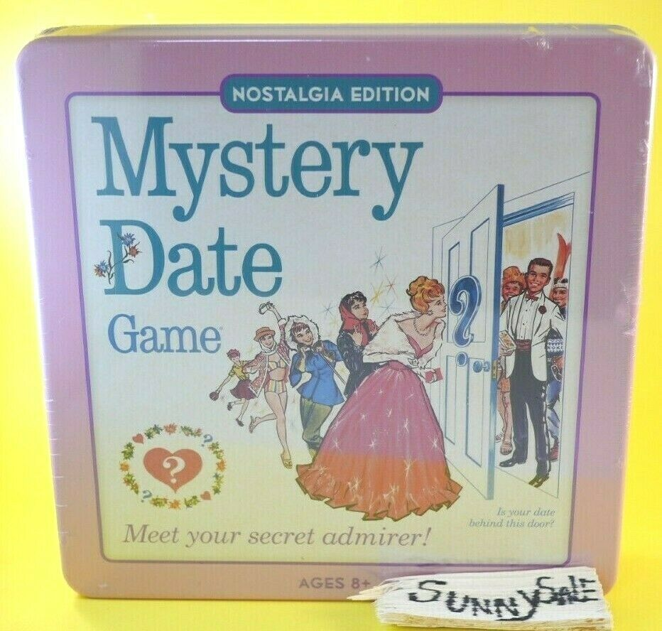 Mystery Date Nostalgia Edition Tin Box Hasbro W.S Game Company Collectible Case