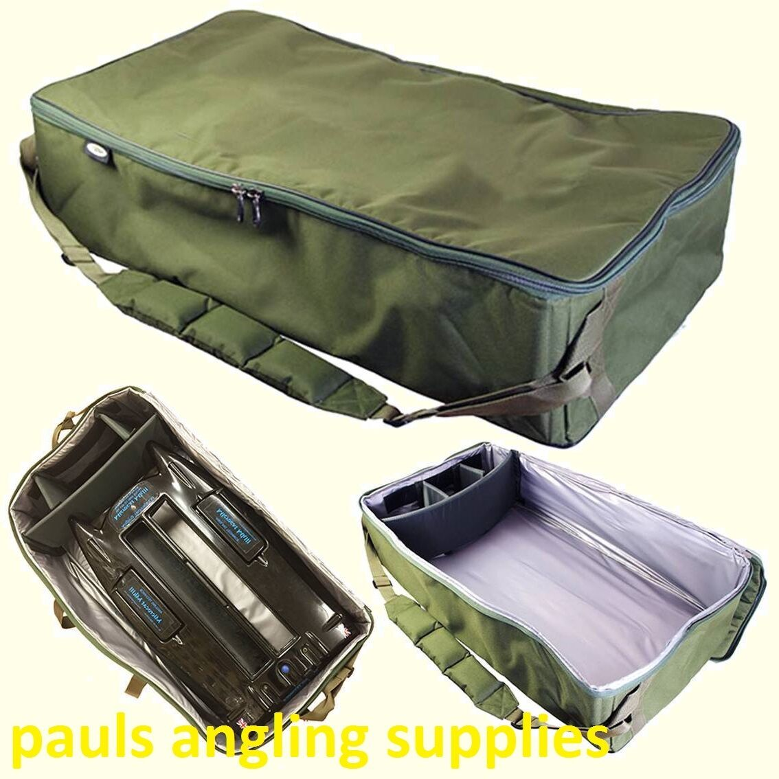 Extra Large Padded Fishing Bait Boat Bag Carryall  with Shoulder strap