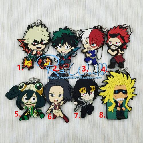 My Hero Academy Boku no Hero Academy All Might Eijiro Uraraka Rubber Key Chain