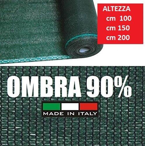 Rete Ombreggiante 90% Telo Ombra Frangivento Frangivista verde H 100 CM