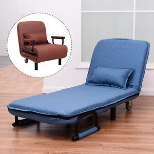 Image Is Loading Single Folding Sofa Bed Chair Modern Fabric Sleep