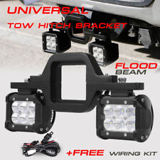 "Trailer Tow Hitch Receiver Mount Bracket +4"" LED Light Bar Reverse Offroad Truck"