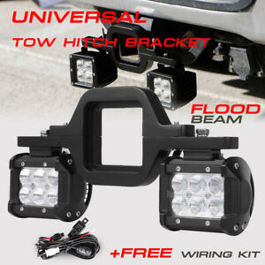Trailer tow hitch receiver mount bracket 4 led light bar reverse image is loading trailer tow hitch receiver mount bracket 4 034 aloadofball Choice Image