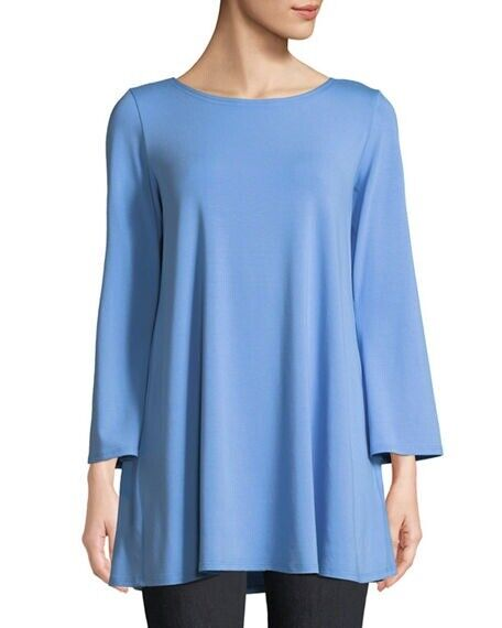 Eileen Fisher BlauBird Viscose Jersey Ballet Neck Tunic Top sz 2X NWT