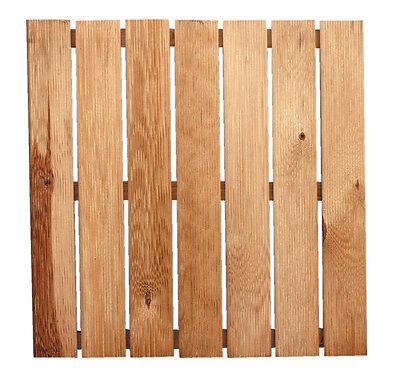 pedana doccia giardino piscina bagno antiscivolo legno di pino 50 x 50  50551