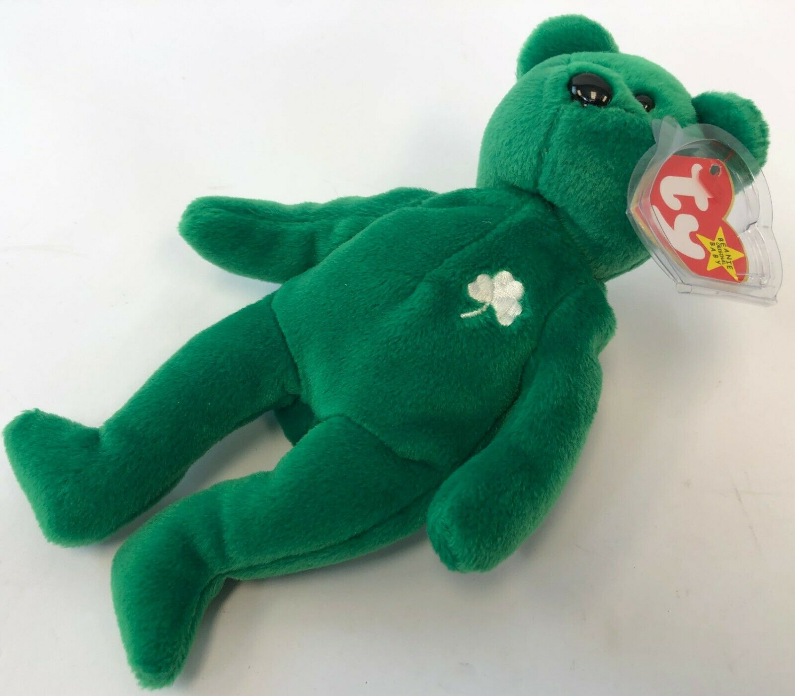 Vintage 1997 Erin Irish PE Pellet ERROR Extra Space Before   Ty Beanie Baby Bear