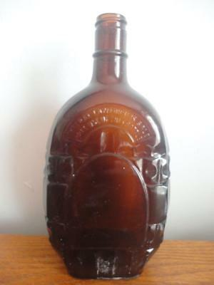 "Decorative Arts Antiques Collectible Antique Vintage Amber Glass Bottle 9""x3"" & 4/5 Quart Made In Usa"