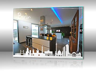 Motivspiegel Skyline Silhouette Hauptstadt Berlin Hannover Stuttgart Dresden uvm
