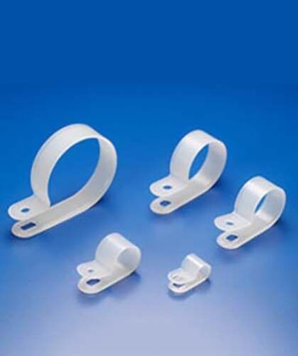 """500 pack 3//16/"""" Coax Cat5 Cat6 White R TYPE Cable Clamps Coaxial Wire Network"""