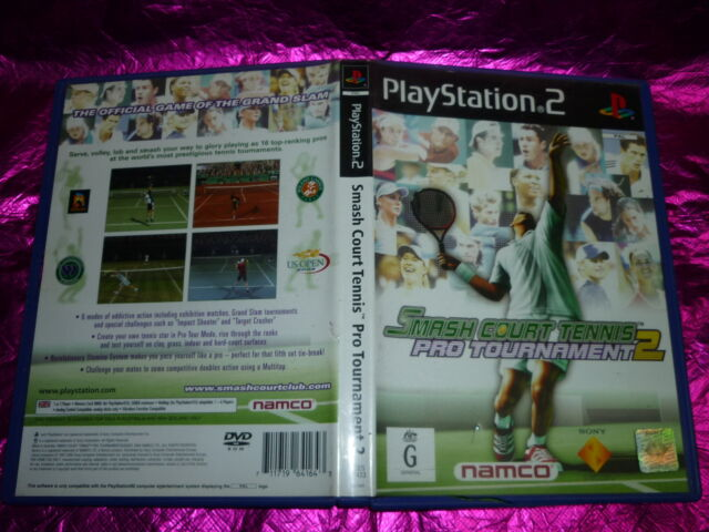 SMASH COURT TENNIS PRO TOURNAMENT 2 SONY PS2 GAME PAL G RATED