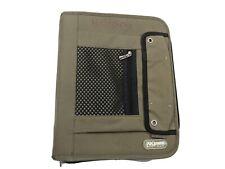 Mead Pro Platinum 2 Inch Fabric 3 Ring Zip Binder Green Organizer Portfolio