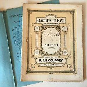 Spartito I Classici Del Piano 5e Concerto Dussek Op.22 F. Il Couppey J. Maho