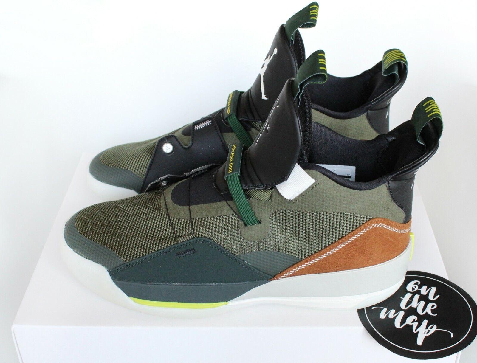 Nike Air Jordan 33 x Travis Scott NRG Olive Green Cactus Jack New