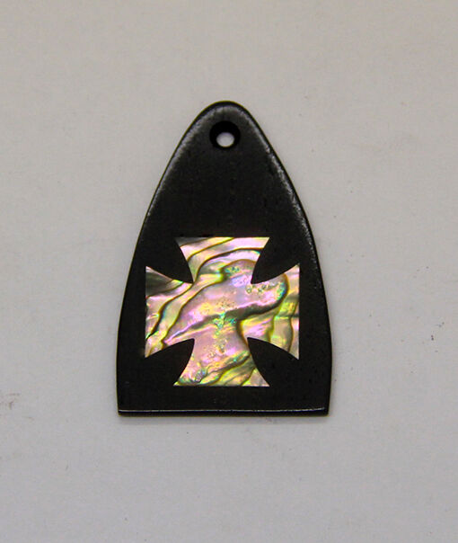 Truss Rod Cover with Iron Cross Inlay will fit PRS