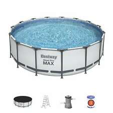 Bestway Swimming Pool Above Ground Steel Pro Frame Filter Pump 15FT 4.57 x 1.22M