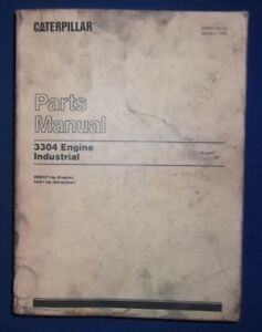 Details about CAT CATERPILLAR 3304 INDUSTRIAL ENGINE PARTS BOOK MANUAL S/N  2B9537-UP 5AA1-UP