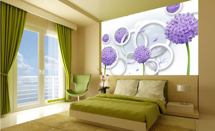 3D purple Hortensien058 Fototapeten Wandbild Fototapete Bild Tapete Familie Kinder