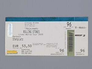 Rolling-Stones-Original-Circus-Krone-2003-Tour-Ticket-in-used-condition-Rare