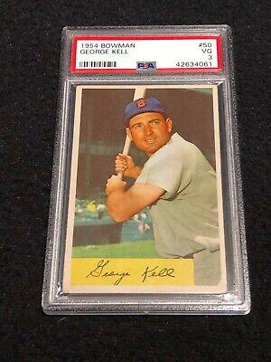 1954 Bowman 50 George Kell Hof Baseball Card Graded Psa