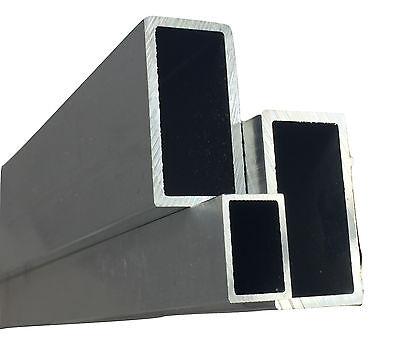 Hell Alu Rechteckrohr Alu Vierkantrohr / Aluminium Alu Quadrat Länge 500mm - 2000mm