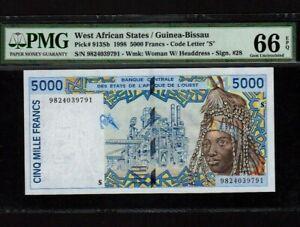 West-African-States-Guinea-Bissau-P-913Sb-5000-Francs-1998-PMG-Gem-UNC-66-EPQ