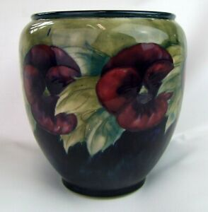 Stunning-Moorcroft-Pansy-Pattern-Planter-1920-039-s-Made-in-England