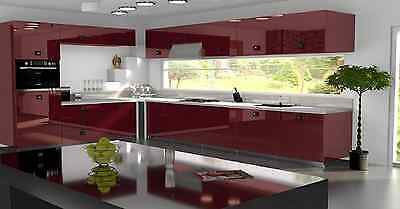 Burgundy Gloss Replacement Acrylic Kitchen Doors Drawers Fronts Ebay