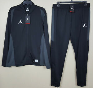 NIKE-JORDAN-DRI-FIT-BASKETBALL-TRACK-SUIT-JACKET-PANTS-BLACK-NEW-SIZE-LARGE
